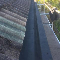 Gutter cleaning work
